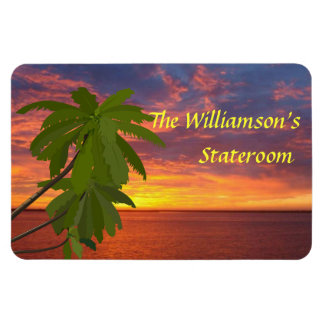 Tropical Sunset Personalzied Cruise Door Marker Magnet