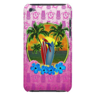 Tropical Sunset Pink Tiki Mask Barely There iPod Cases