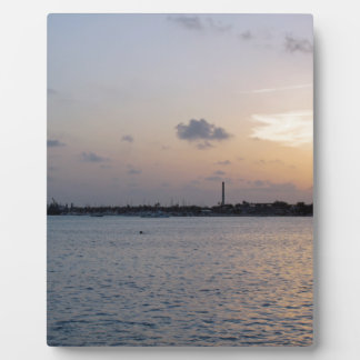 tropical sunset plaques