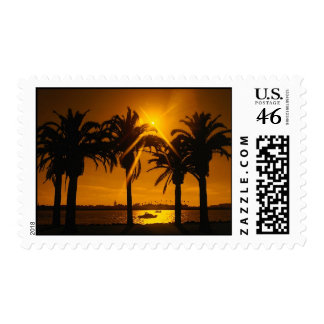 Tropical Sunset Postage Stamps