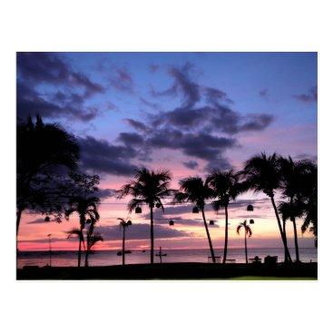 Beach Themed Tropical Sunset Postcard