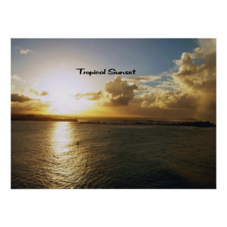 Tropical sunset posters