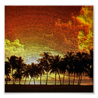 Tropical Sunset Print