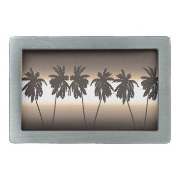 Beach Themed Tropical sunset rectangular belt buckle