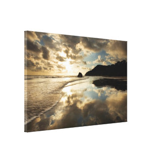 Tropical Sunset Reflection Gallery Wrapped Canvas