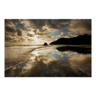 Tropical Sunset Reflection Poster