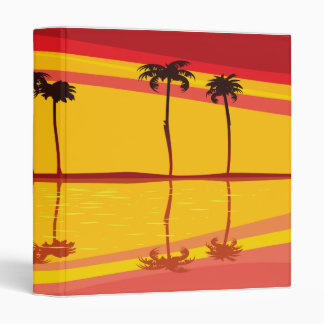 tropical sunset reflections notebook binder