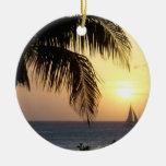 Tropical Sunset Sail Ornament