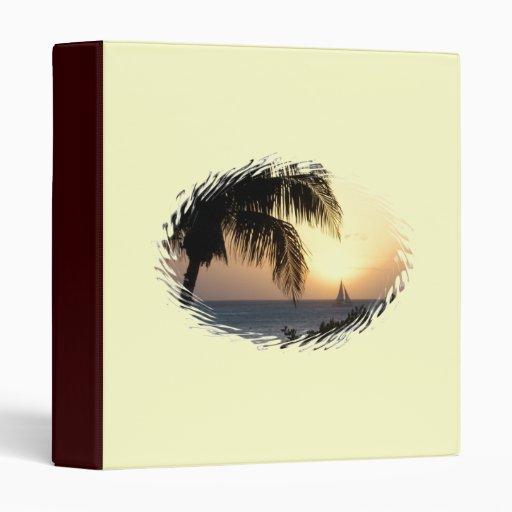 Tropical Sunset Sailboat Binder