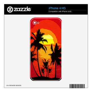 Tropical sunset skins for iPhone 4S