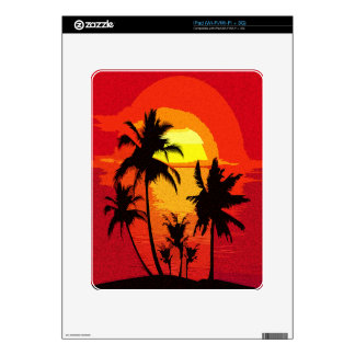 Tropical sunset skins for the iPad