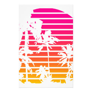 Tropical Sunset Stationery