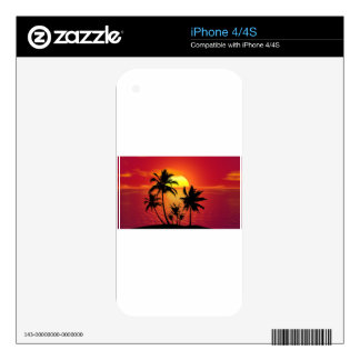 Tropical Sunset Summer Beach Sunset Tropical Decal For The iPhone 4S