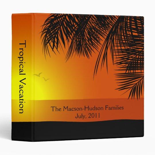 Tropical Sunset Sunrise Beach Photo Album 3 Ring Binder