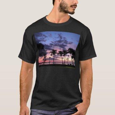 Beach Themed Tropical Sunset T-Shirt