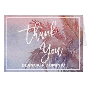 Beach Themed Tropical Sunset Thank You Card