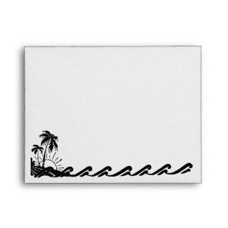 Tropical Sunset Wash Personalized Envelope