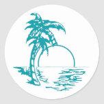 Tropical Sunset Wedding Stickers