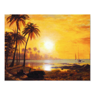 Tropical Sunset with Fishing Boats Invitations