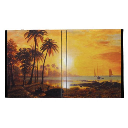 Tropical Sunset with Fishing Boats iPad 3 Case iPad Folio Cases