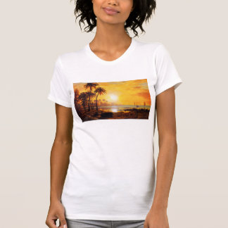 Tropical Sunset with Fishing Boats T-shirt