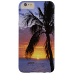 Tropical Sunset with Palm Tree Barely There iPhone 6 Plus Case