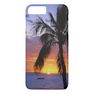 Tropical Sunset with Palm Tree iPhone 7 Plus Case