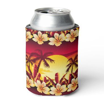 adamfahey Tropical sunset with palms can cooler