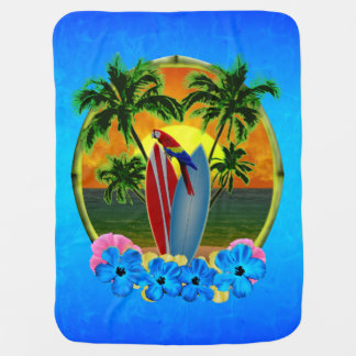 Tropical Sunset Receiving Blankets