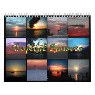 Tropical Sunsets Calendar