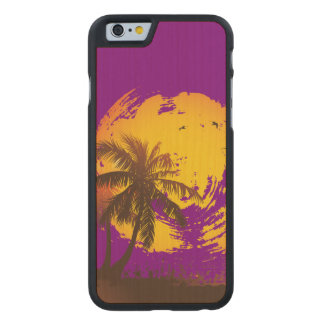 Tropical Sunshine Carved® Maple iPhone 6 Slim Case