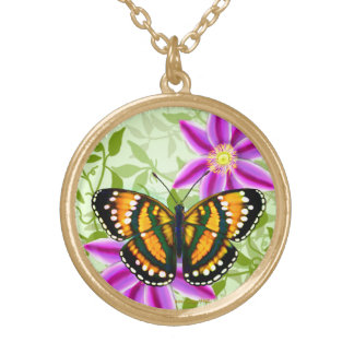 Tropical Sunshine Yellow Butterfly Pendant