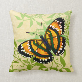 Tropical Sunshine Yellow Butterfly Pillow