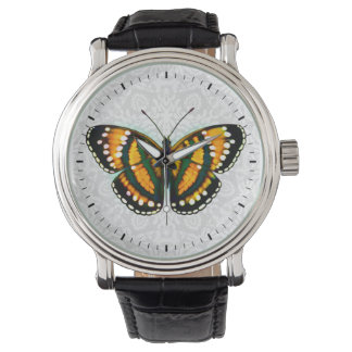 Tropical Sunshine Yellow Butterfly Watch