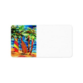Tropical Surf Address Label