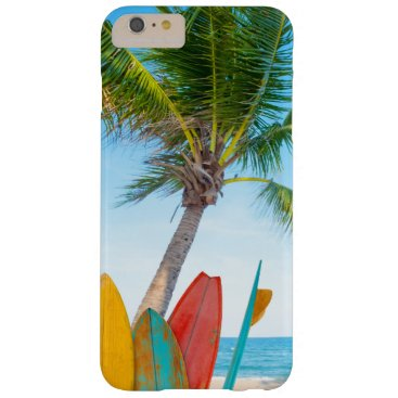 Tropical Surfboard Beach Barely There iPhone 6 Plus Case