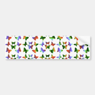 Tropical Swirl Butterfly Pattern Bumper Sticker