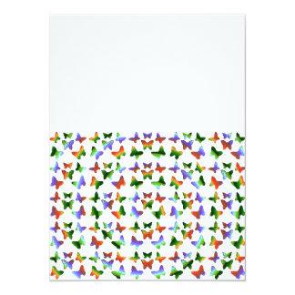 Tropical Swirl Butterfly Pattern Card