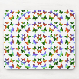Tropical Swirl Butterfly Pattern Mouse Pad
