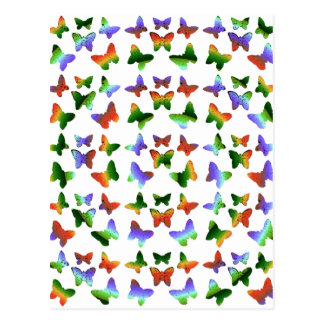 Tropical Swirl Butterfly Pattern Postcards