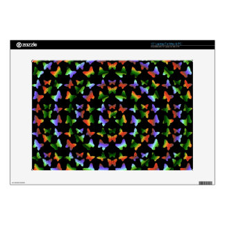 Tropical Swirl Butterfly Pattern Laptop Decals