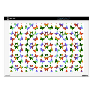 """Tropical Swirl Butterfly Pattern Decal For 17"""" Laptop"""