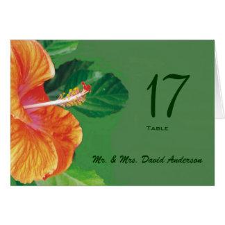 Tropical Tangerine Wedding  Place Card