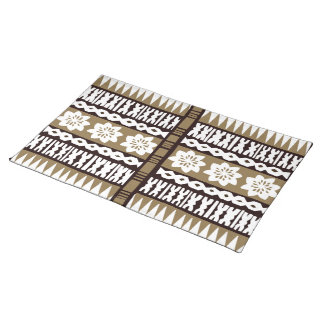 Tropical Tapa Cloth Placemats