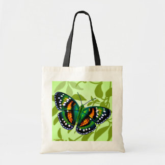 Tropical Teal Blue Green Butterfly Tote Tote Bag