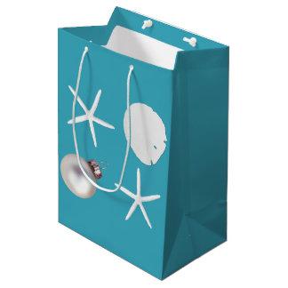 Tropical Teal Blue Sea Life Gift Bag