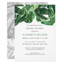 Tropical Terrain botanical Bridal Shower Card
