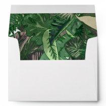 Tropical Terrain botanical leaves liner Envelope