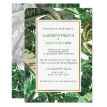 Tropical Terrain greenery wedding Invitations