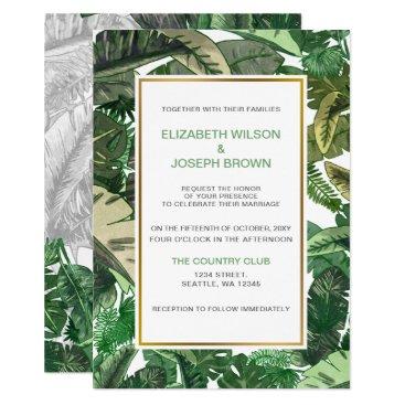 Tropical Terrain greenery wedding Invitations